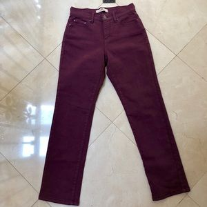 Levi's Straight Leg Dark Purple Jeans (EUC)